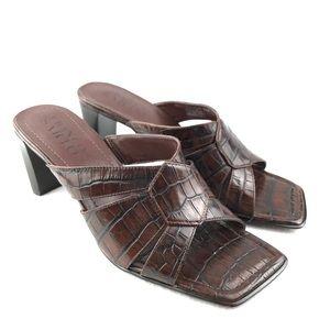 Franco Sarto | Women's Brown Square Toe Sandals